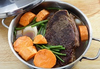 foods that help gut health such as beef broth or beef stock soup